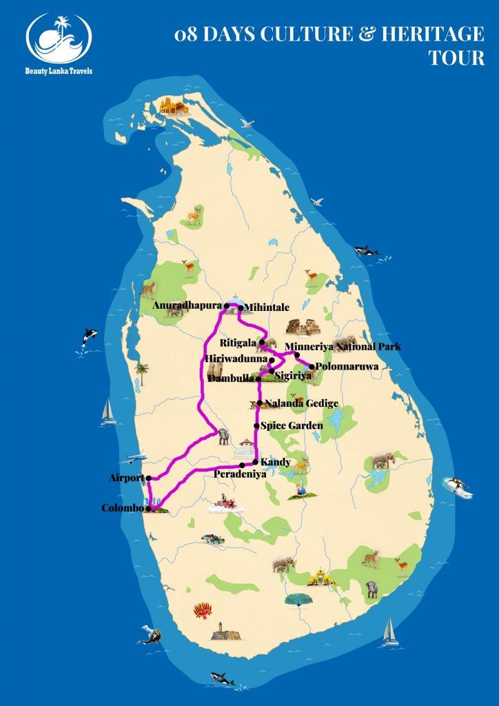 08 DAYS CULTURE & HERITAGE TOUR map
