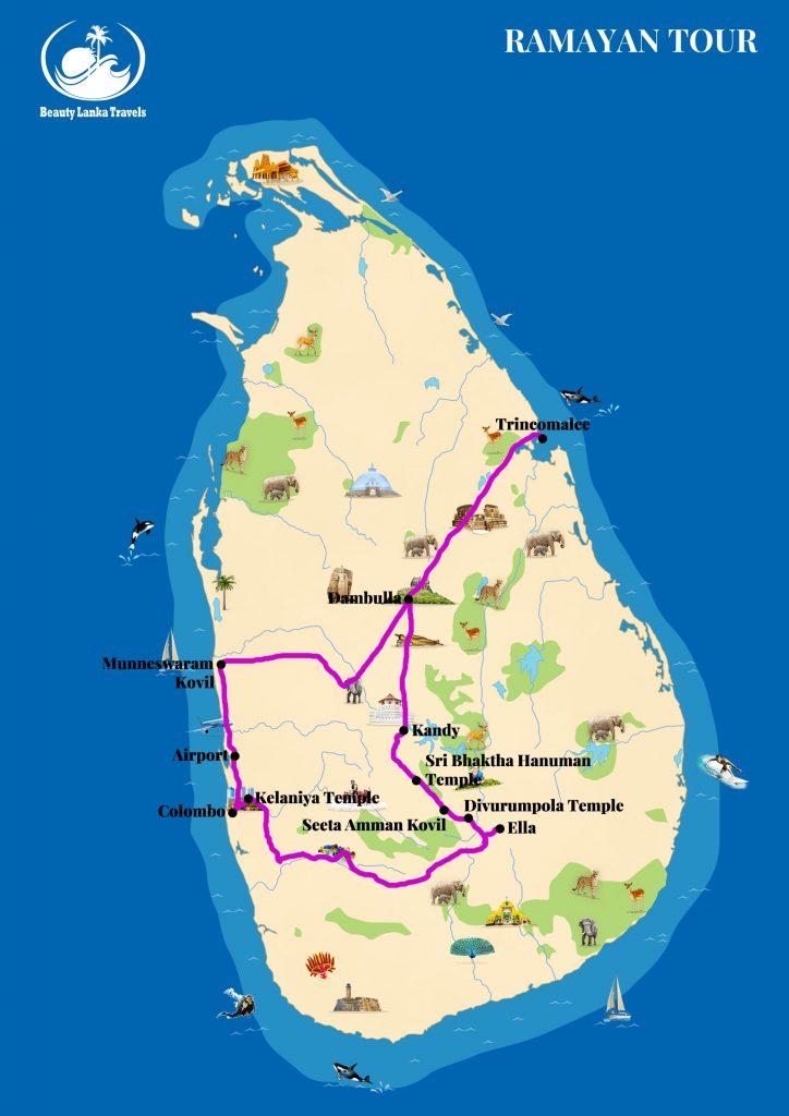 RAMAYAN TOUR map